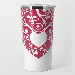 A pink Heart Travel Mug