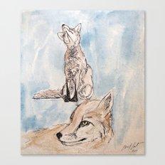 Fox Sketch #2 Canvas Print