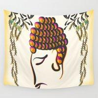 buddha Wall Tapestries featuring Buddha by famenxt
