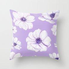Anemones 2 #society6 #buyart Throw Pillow