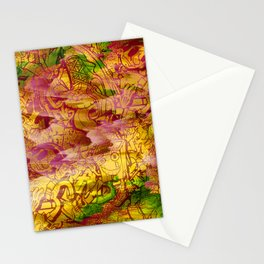 Pager Collage 3 Royal Stain Stationery Cards