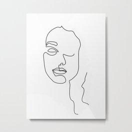 One line art of Mina Metal Print