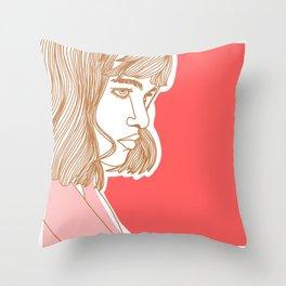 Side Babe Throw Pillow