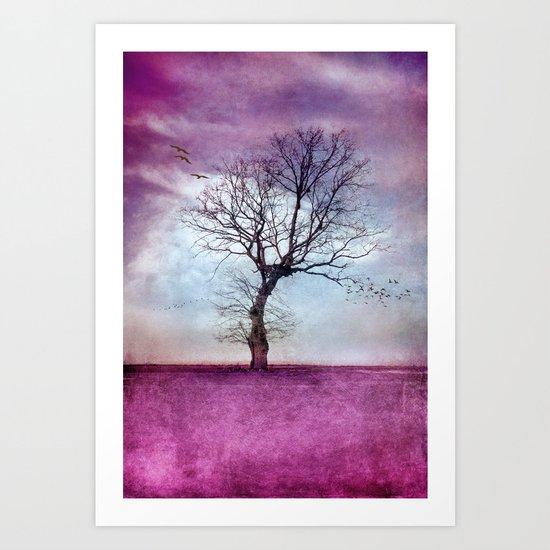 ATMOSPHERIC TREE | Pink Morning Art Print