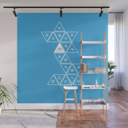 Blue Unrolled D20 Wall Mural
