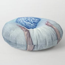 holding brain Floor Pillow