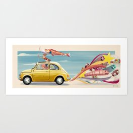 yellow 500 Art Print