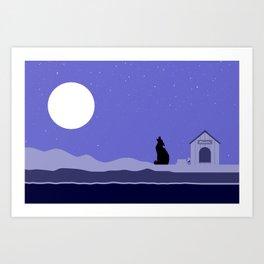 Moon Dog Art Print