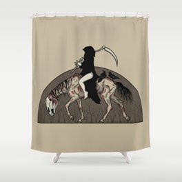 On A Pale Horse Shower Curtain