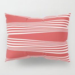 wavy stripes in cherry red Pillow Sham