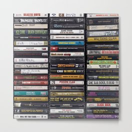 Old 80's & 90's Hip Hop Tapes Metal Print