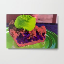 Piece of the Pie Split Complimentary Yellow-Green Red Violet Metal Print