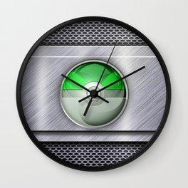 Green Lantern Pokeball Steel Chrome Wall Clock