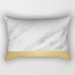 Carrara Italian Marble Holiday Gold Edition Rectangular Pillow