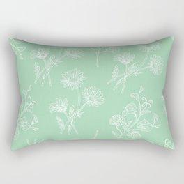 Daisy & Sweet Pea Rectangular Pillow