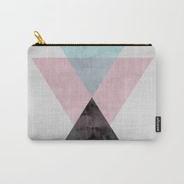 Three triangles in watercolor Carry-All Pouch