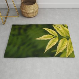 Plant Patterns - Leafy Greens Rug