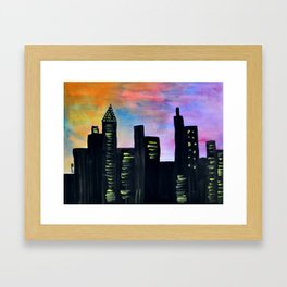 Skyline - Manhattan Framed Art Print