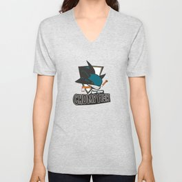 san hose chomp fish Unisex V-Neck