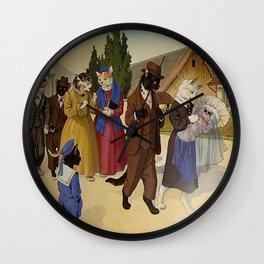 Les joies de la vie féline Wall Clock