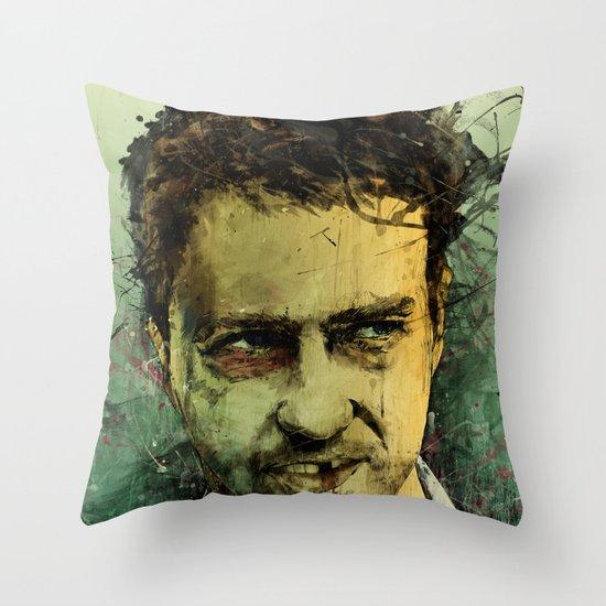 Schizo - Edward Norton Throw Pillow
