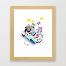 The Love Car Framed Art Print