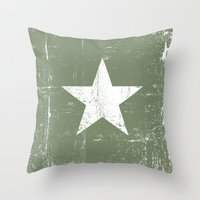 army Throw Pillows featuring ARMY by mauromod