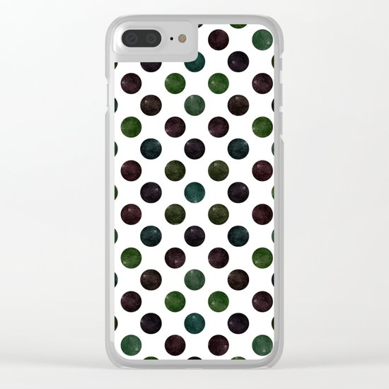 Dots #2 Clear iPhone Case