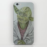 yoda iPhone & iPod Skins featuring Yoda by nosila.art