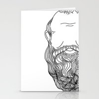 popart Stationery Cards featuring Socrates Beard PopArt by Britbee CokerMoen
