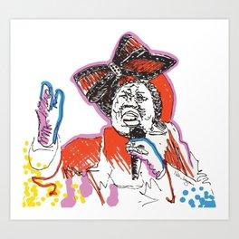 Aretha Franklin African American Singer Art Print