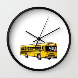 My Dream Job Would Be Driving To Drive the Karma Bus T Shirt Wall Clock