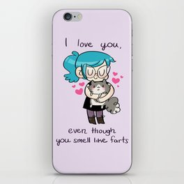 I Love You iPhone Skin