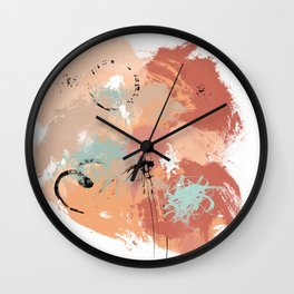 Unrestrained, Abstract Art Brushstrokes Wall Clock