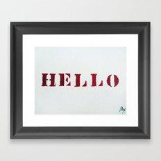 Hello You Framed Art Print