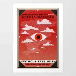 Safety Matches: Psyche Art Print
