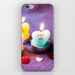 Valentines Candles Photography Print iPhone Skin