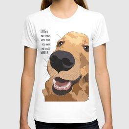 Golden Retriever dog love T-shirt