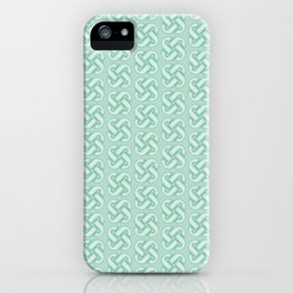 Celtic Knot Pattern in Green iPhone Case