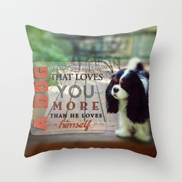 A Dog That Loves You Throw Pillow