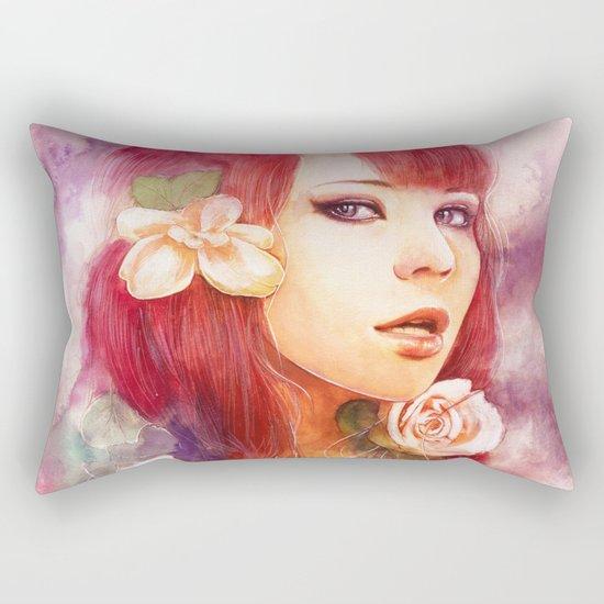Kiss from a rose Rectangular Pillow