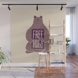 Free Hugs Bear Wall Mural