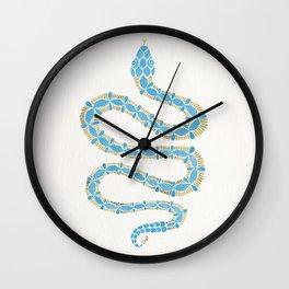 Serpent – Cornflower Blue & Gold Wall Clock