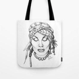 Zeke- A Black and White Illustration  Tote Bag