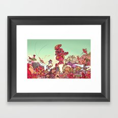 robot man Framed Art Print