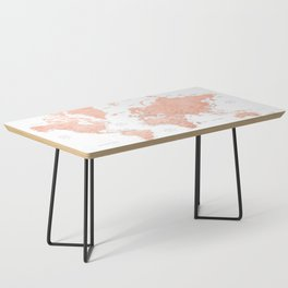 """Rose gold world map with cities, """"Hadi"""" Coffee Table"""