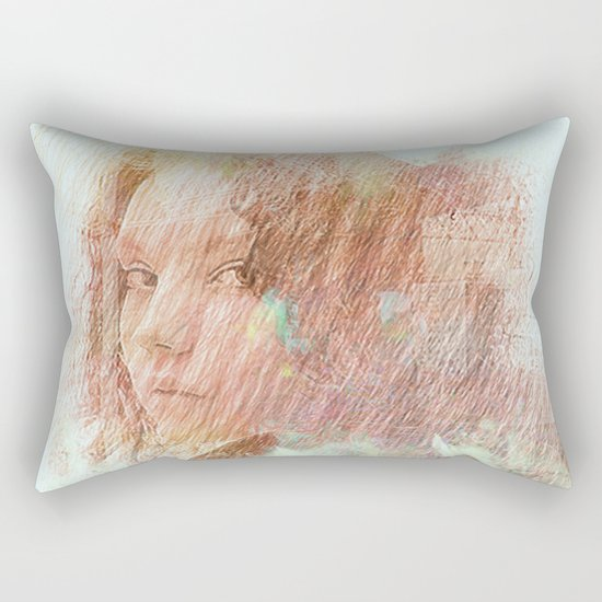 Girl of Brooklyn Rectangular Pillow