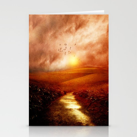 when the darkness, shine Stationery Cards