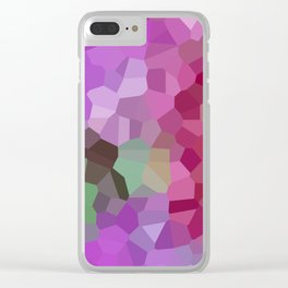 Pixels - Winter Garden of Pink Stars Clear iPhone Case
