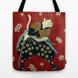 Samurai Cat Tote Bag
